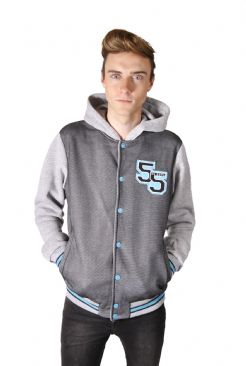 Mens Jersey Fleece Baseball Jacket